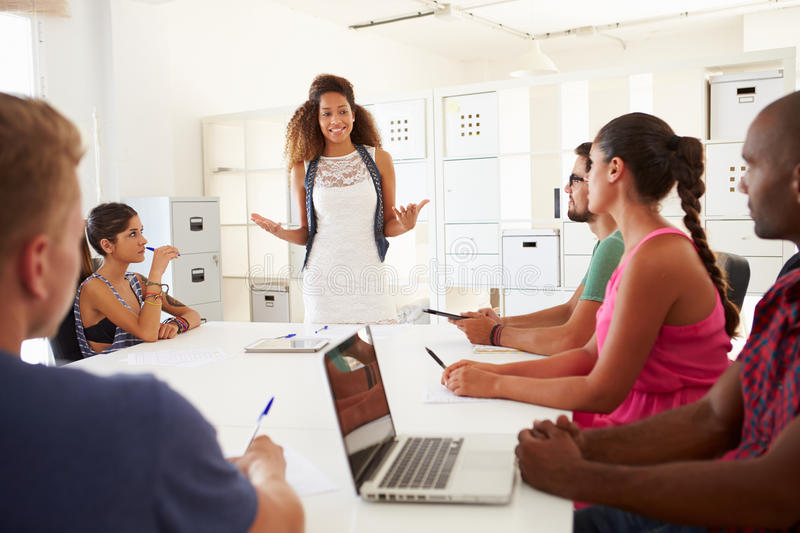 Businesspeople Meeting In Office Of Start Up Business royalty free stock photos