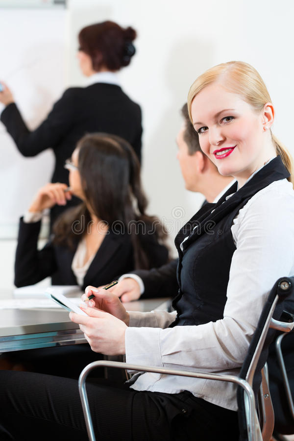 Businesspeople,meeting And Presentation In Office Royalty Free Stock Photos