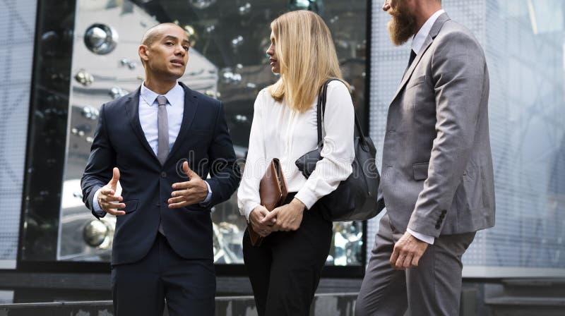 Businesspeople Men Women Walk Colleague royalty free stock photo