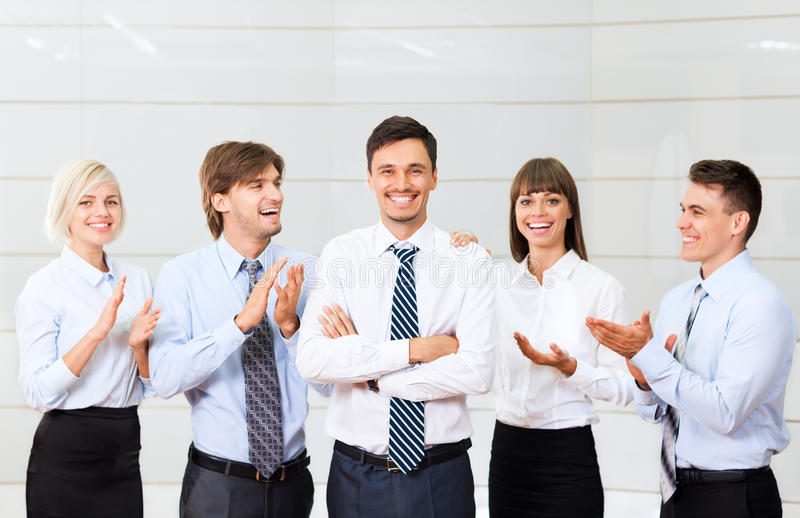 Businesspeople office royalty free stock image