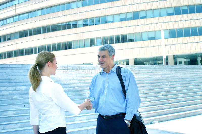 Download Businesspeople Shaking Hands Stock Image - Image: 1557543