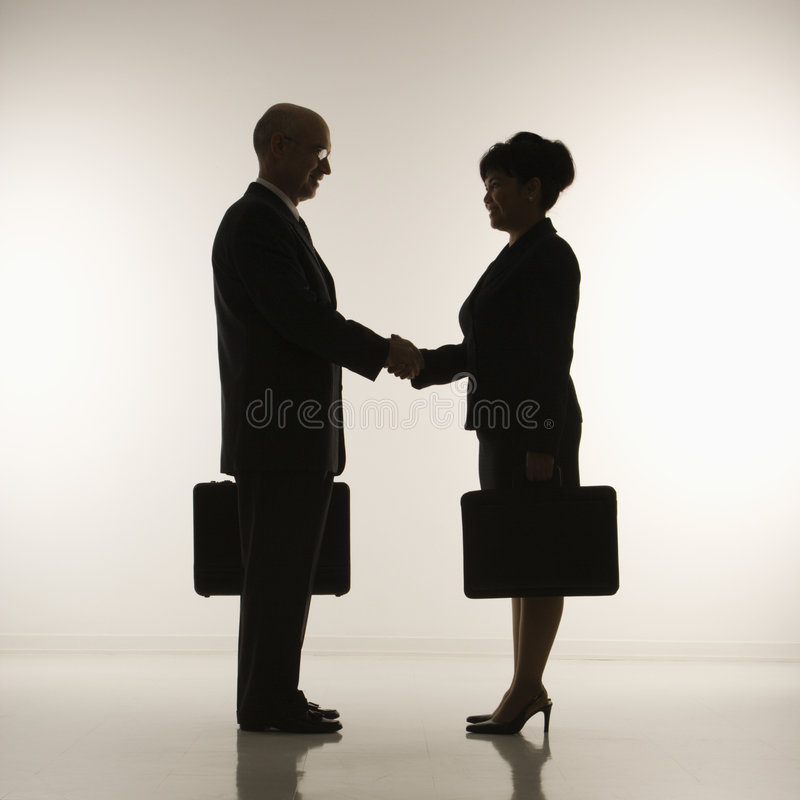 Businesspeople shaking hands. royalty free stock images