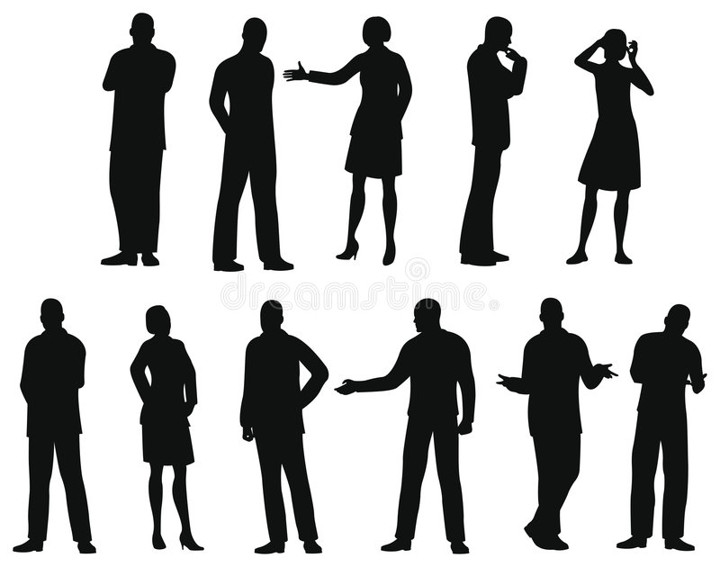 Download Businesspeople Silhouette, Stock Image - Image: 8176571