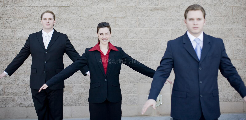 Businesspeople Soar stock image