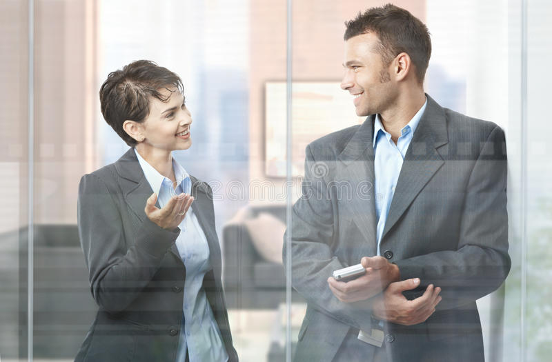 Download Businesspeople talking stock photo. Image of career, holding - 12602084