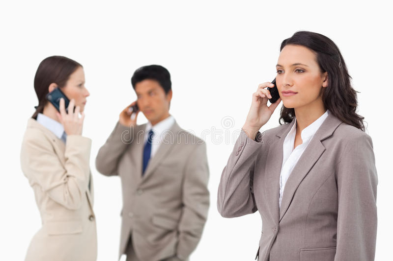 Download Businesspeople Talking On The Phone Stock Image - Image: 22861911