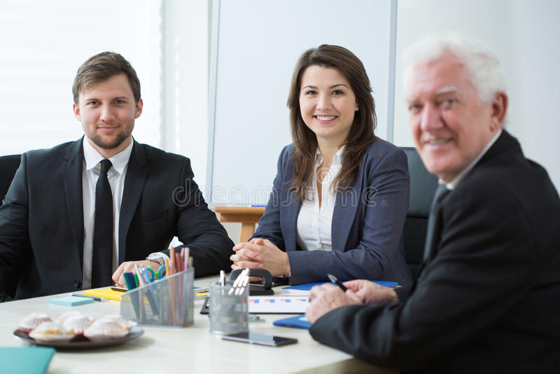 businesspeople tre royaltyfria bilder