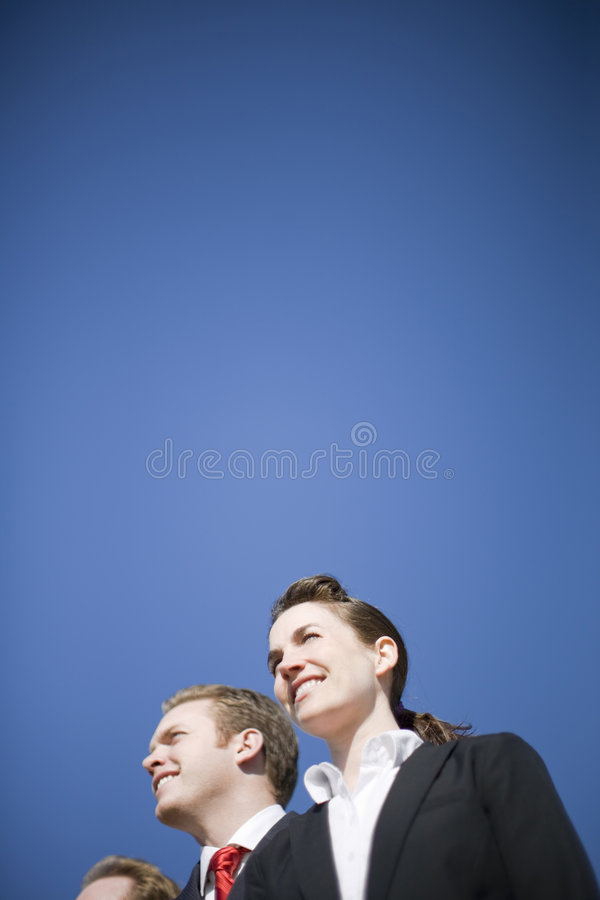 Businesspeople vision stock image