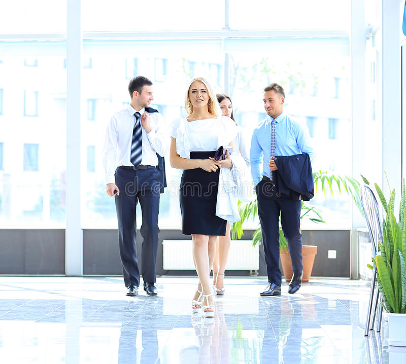 Download Businesspeople Walking Royalty Free Stock Photography - Image: 32948177