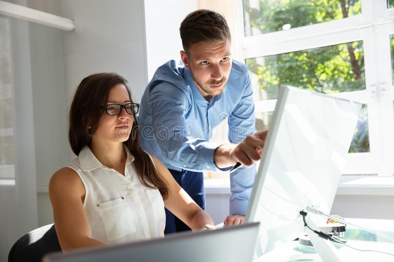 Businesspeople At Work stock photos