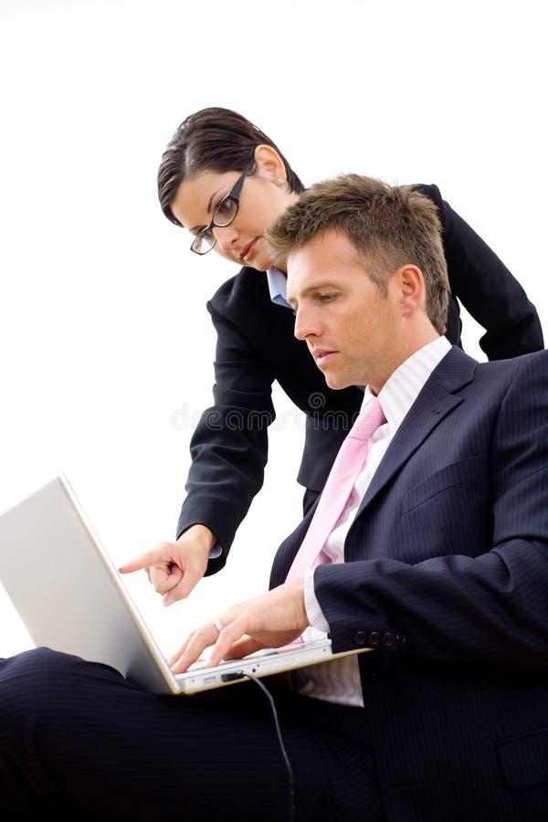Businesspeople working stock image