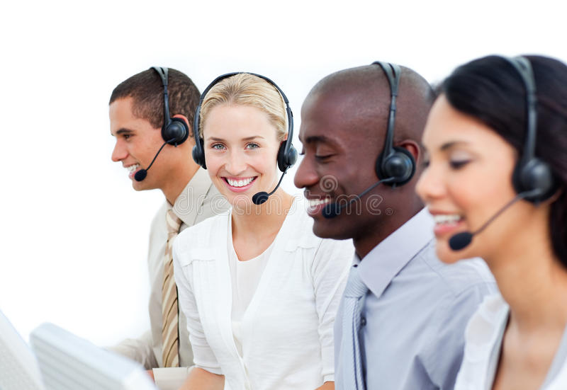 Download Businesspeople Working In A Call Center Stock Photo - Image: 13043766