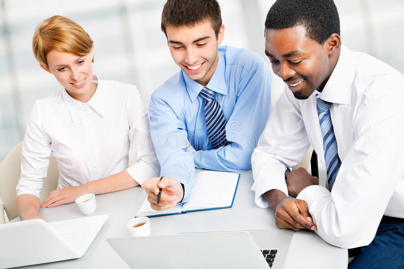 Download Businesspeople Working At Meeting Stock Photo - Image: 27435092