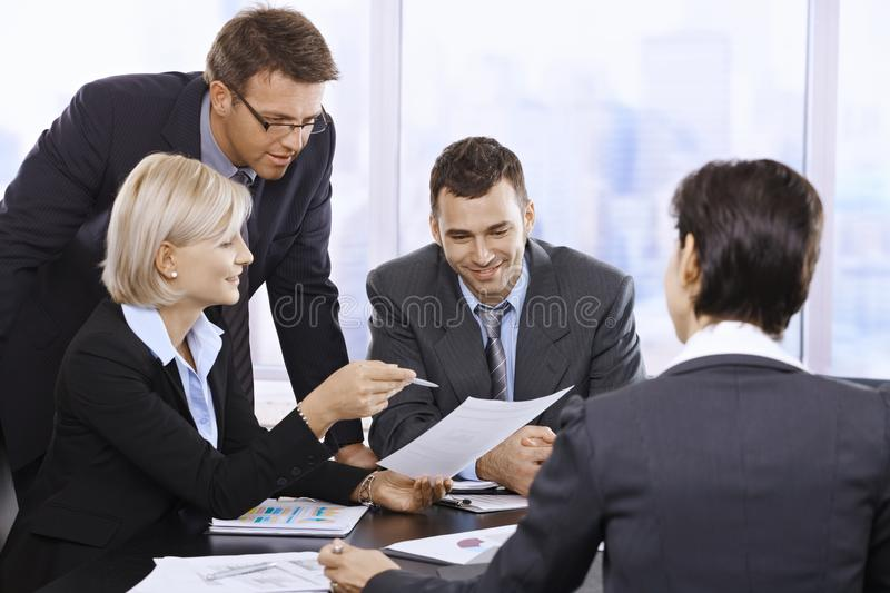Businesspeople Working In Office Royalty Free Stock Image
