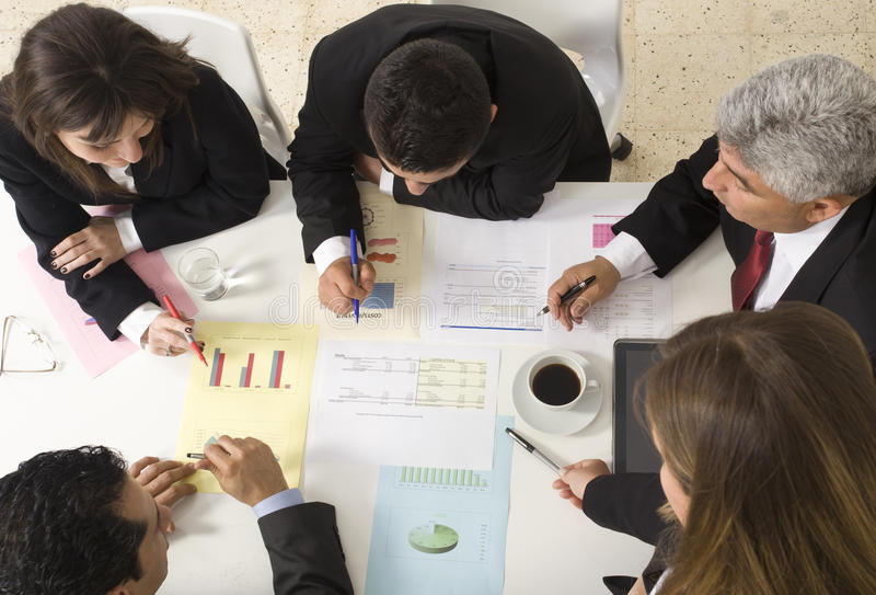 Businesspeople working together at stock photography