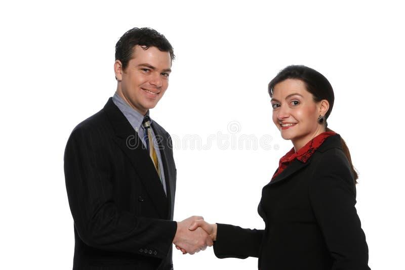 businesspeoplekvinnligmanlig royaltyfria foton