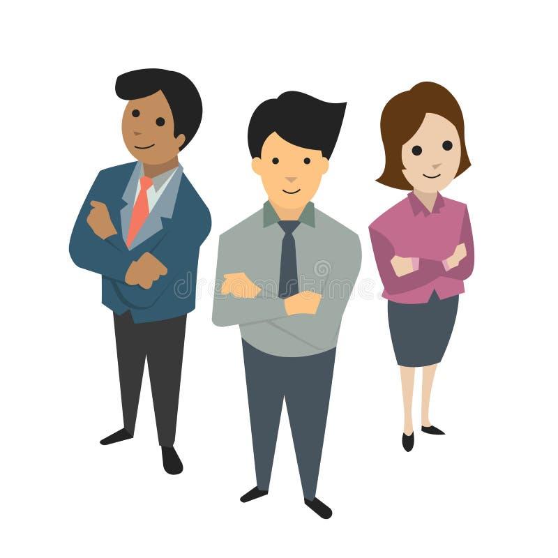 Businesspeoplelag stock illustrationer