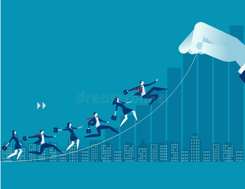 Businessperson omhoog naar doel stock illustratie