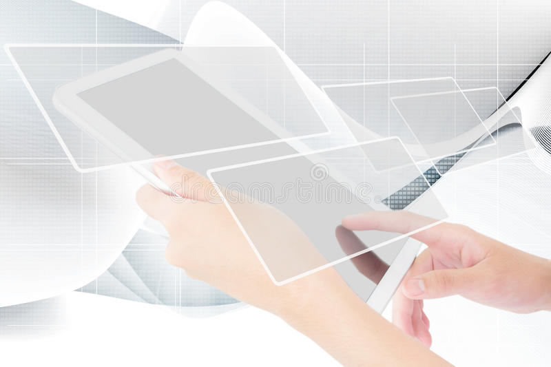 Businessperson Using A Digital Tablet Stock Photo