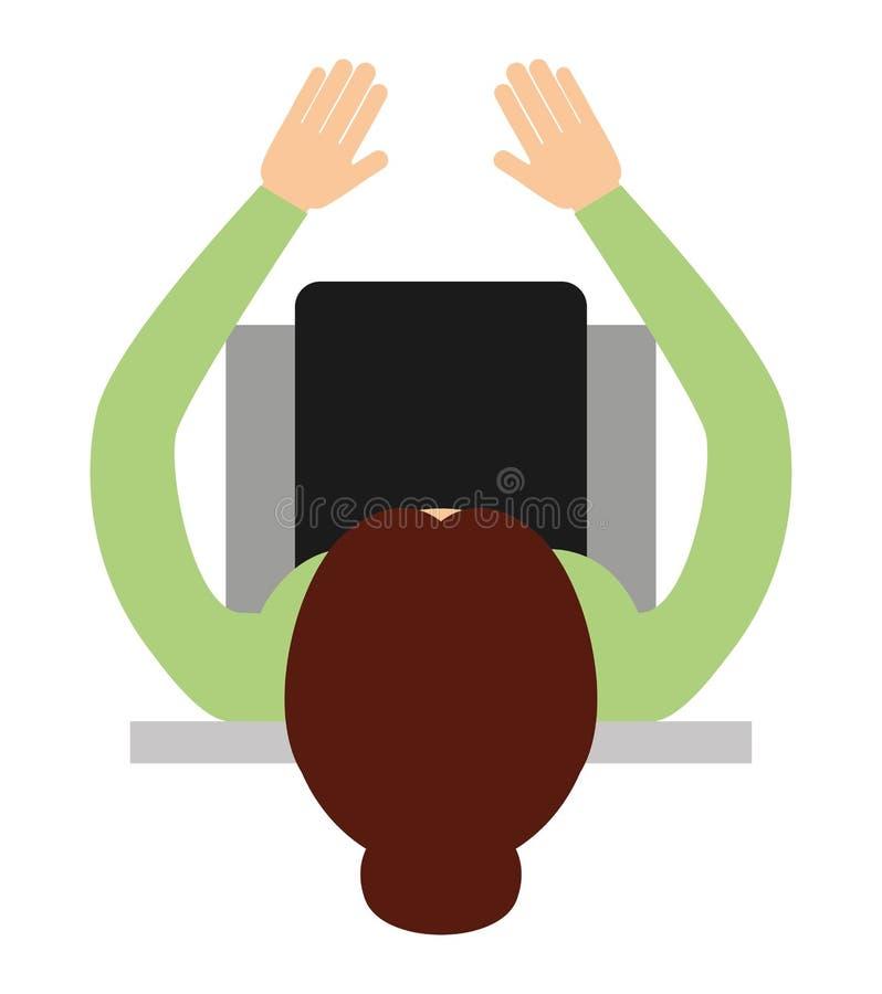 businessperson zitting geïsoleerd pictogramontwerp stock illustratie