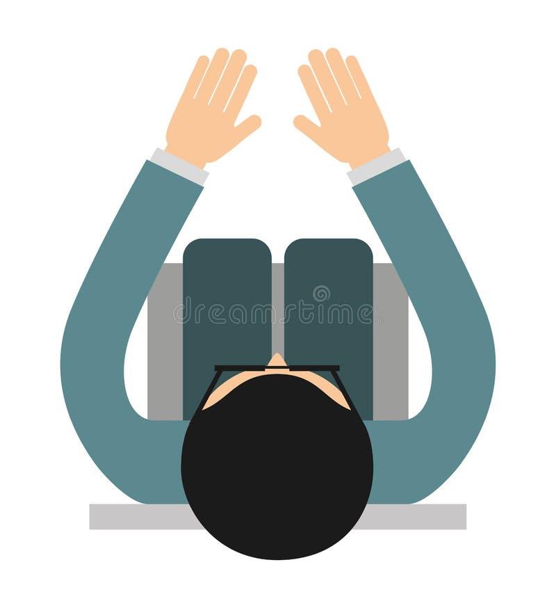 businessperson zitting geïsoleerd pictogramontwerp vector illustratie