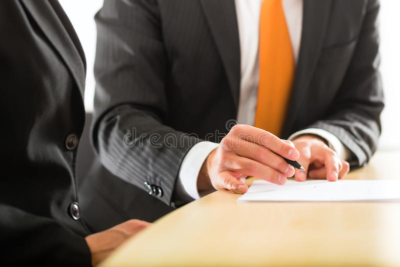 Businesspersons在营业所 免版税库存图片