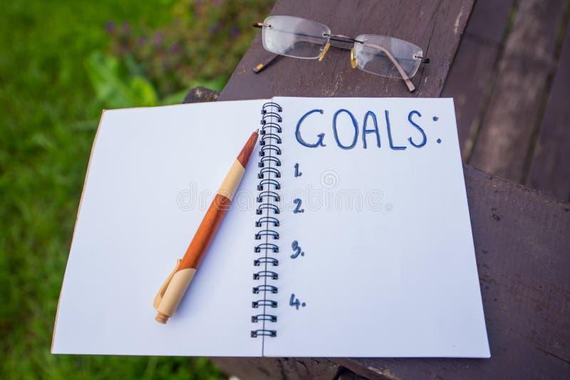 businessplan en doel royalty-vrije stock afbeeldingen
