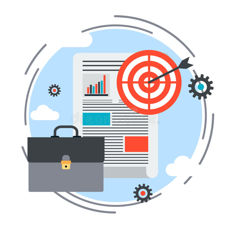 businessplan, rapport, portefeuille vectorconcept vector illustratie