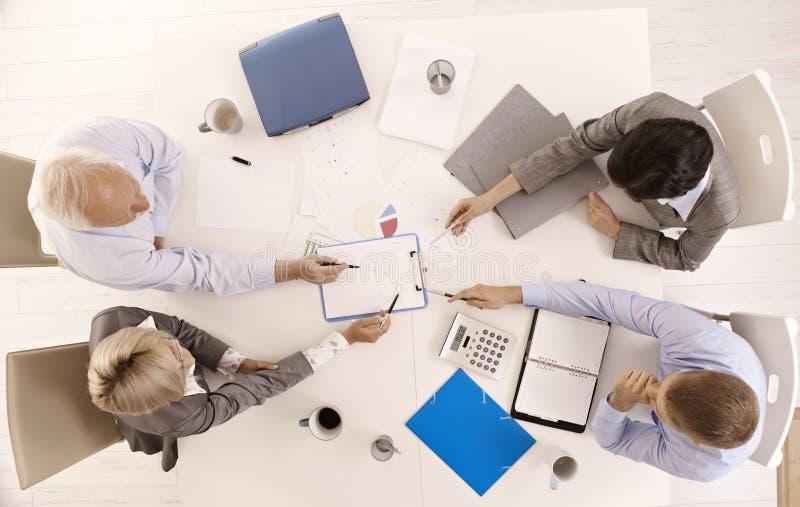 businessteam busy working royaltyfria foton