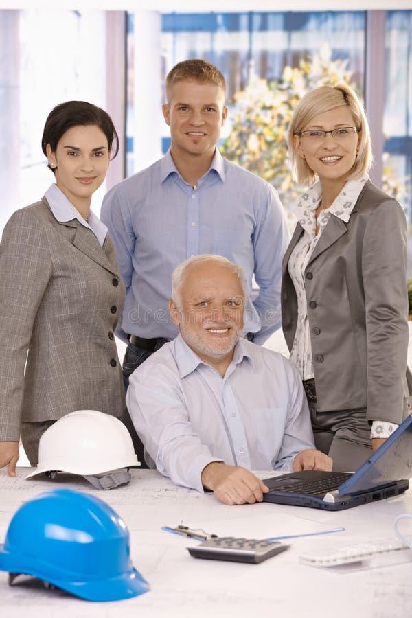 Businessteam confidente fotografía de archivo libre de regalías