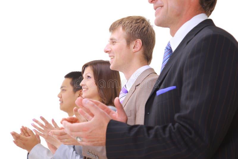 Businessteam en applaus royalty-vrije stock afbeeldingen