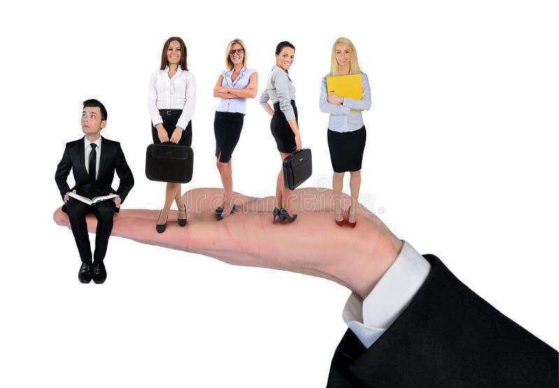 businessteam isolated royaltyfri foto