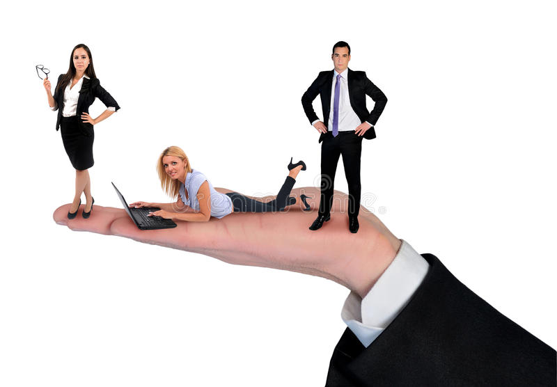 businessteam isolated arkivbild