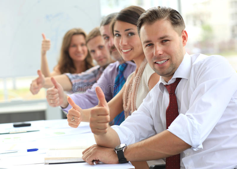 Download Businessteam With Thumbs Up Stock Image - Image: 26468395