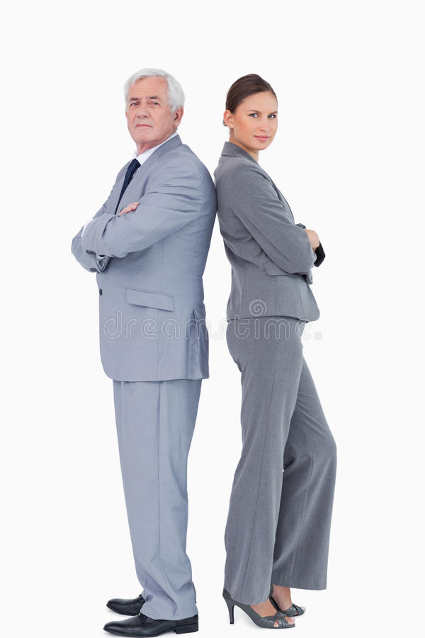 Businessteam Trwanie Z Powrotem Popierać Obraz Stock