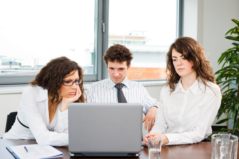 Download Businessteam Working On Computer Stock Image - Image of corporate, businessperson: 7705713