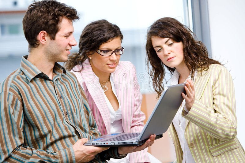 Download Businessteam Working On Computer Stock Image - Image: 8010909