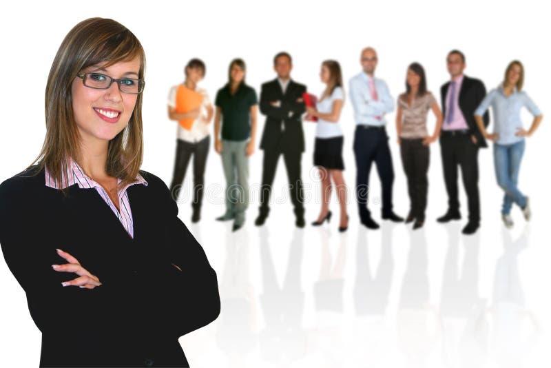 businessteamaffärskvinna royaltyfri bild