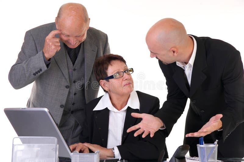 businessteamdiskussion royaltyfria bilder