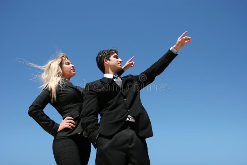 businessteammål arkivfoto
