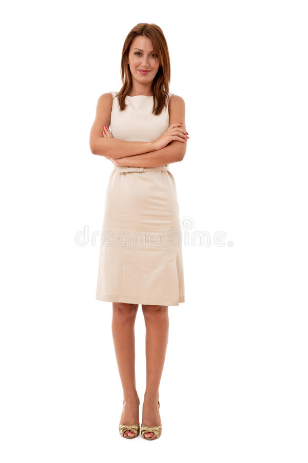 Businesswoman. Business concept with a young businesswoman royalty free stock images