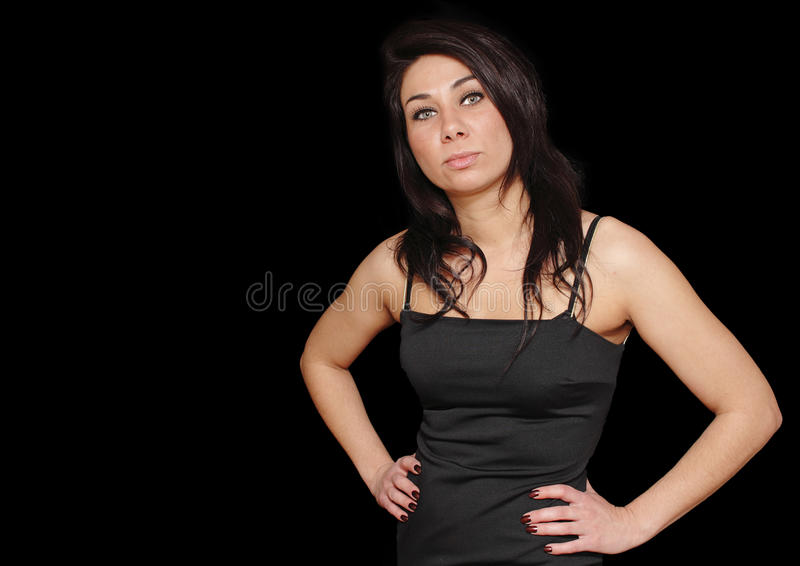 Download Brunette Woman With Hands On Hips Stock Photo - Image: 18900360