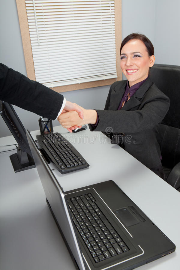 Download Businesswoman stock image. Image of handshake, emotional - 28528567