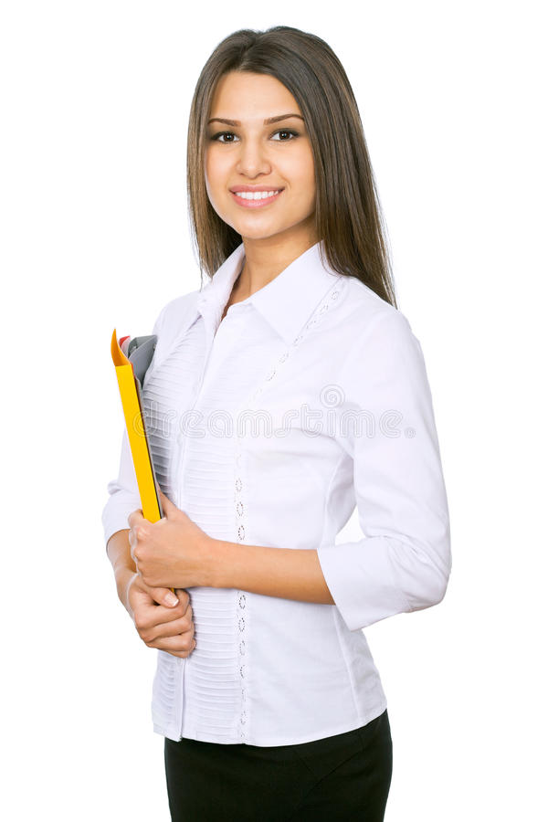 Businesswoman. Portrait of a young attractive business woman stock image