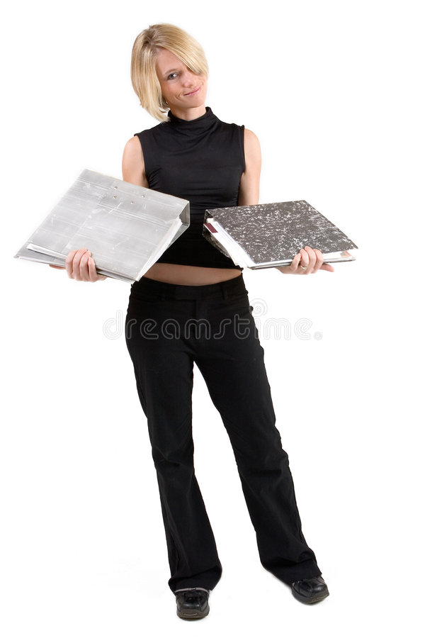 Download Businesswoman #44 stock image. Image of file, blond, black - 157303