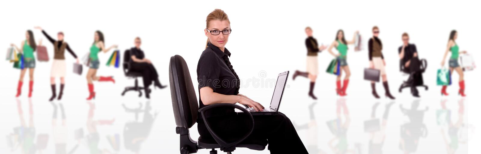 Download Businesswoman stock image. Image of office, coworkers - 4449685