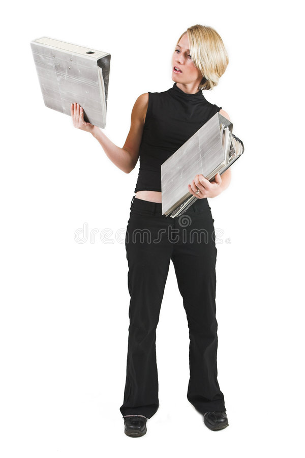 Download Businesswoman #47 stock photo. Image of blond, files, businesswoman - 157306