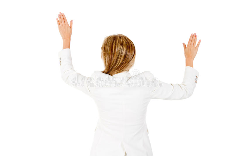 Download Businesswoman With Arms Open Stock Image - Image: 24637925