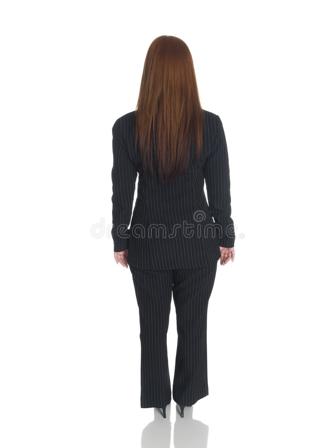 Businesswoman - back arms sides royalty free stock photo