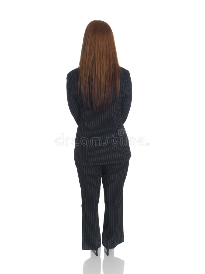 Businesswoman - back hands clasped front stock images